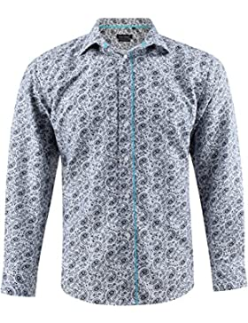 Yves Enzu - Camisa casual - Paisley - para hombre