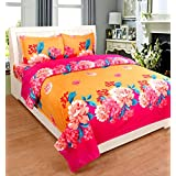 King Size 3 Pc Bedding Set - 1800 Series Hypoallergenic Wrinkle Free Bed Linens Exclusive Design Double Bedsheet |Includes 2 King Size Pillows Covers||1 Flat Bed Sheet 90x100 Inch (Indian Quality Collection)-Multi-Color Flower Print