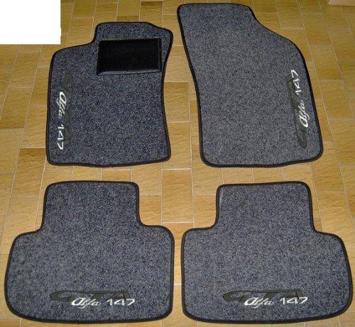 Lupex Shop tpmis Alfa.159/Tapis de Sol en Moquette avec Logo pour Alfa 159