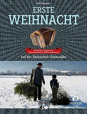 ERSTE WEIHNACHT - arrangiert für Steirische Handharmonika - Diat. Handharmonika - mit CD [Noten / Sheetmusic]