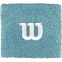 Wilson W Wristband Muñequera de Tenis, Mujer, Azul (Aqua), OSFA