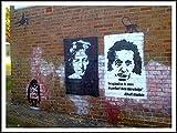 imagenation Banksy 'Einstein Spraypaint'-60cm x 80cm impresión en láminas autoadhesivas papel Póster