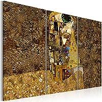 murando - Cuadro en Lienzo 120x80 cm - Abstraccion - Impresion en calidad fotografica - Cuadro en lienzo tejido-no tejido - Gustav Klimt Beso l-A-0003-b-f