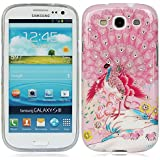 für Samsung Galaxy S3 SIII S III I9300 bling strass kristall diamant Rosa Pfau Peacock Peafowl hülle schale abdeckung case cover_PGQU-YP0688I0020