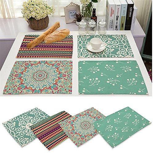 Platzsets Platzdeckchen Platzmatten Tischsets 42*32cm Tischmatten Tischdeko Placemat LianLe (C)