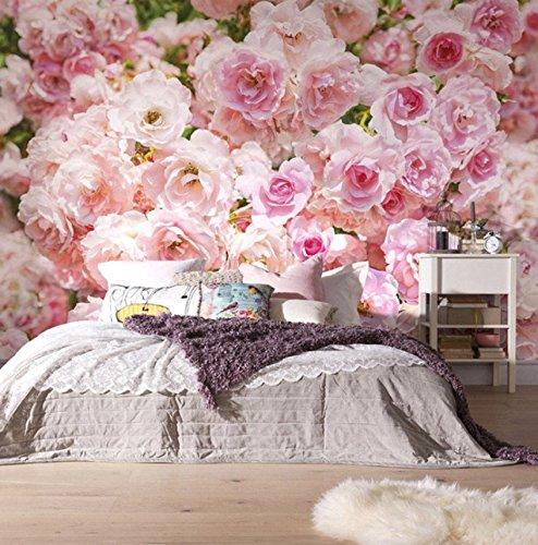 Kuamai Romántico Rosa Rosa Flor De Fondo Murales De Pared Casa De La Boda Sala De Estar Decoración Del Hogar Foto Papel Tapiz Floral 3D-200X140cm