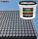 Dachfarbe Sockelfarbe Dachbeschichtung Dachlack Dachsanierung Polymermembran 4 kg Anthrazit