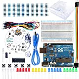 REES52 Arduino UNO Project Basic Starter Kit with Uno r3 Transparent Case