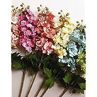 fiori artificiali, Seta / Plastica Delphinium Fiori Artificiali , dark pink - Delphinium Vaso