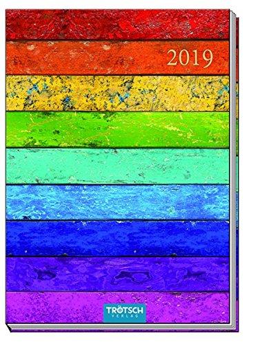 Taschenkalender A7 Woody 2019: Bürokalender Taschenterminer por Trötsch Verlag GmbH & CO. KG