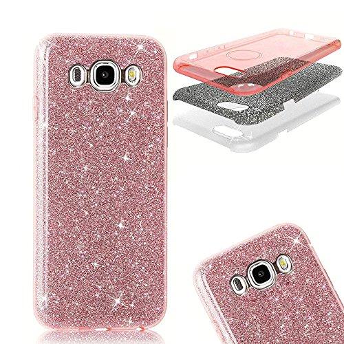 e, MOMDAD TPU Case Cover für Samsung Galaxy J7 2016 J710 Glitzer Glänzend Bling Handyhülle Schutzhülle Silikon Weich Kristall Glitter Rückseite Telefonkasten Beschützer Rutschfeste Anti-Kratzer Handy Schale Tasche Bumper - Pink (Stellen Sie Dream Catcher)