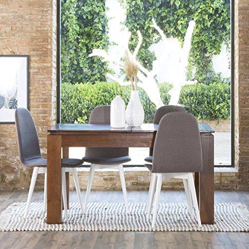 Lua Table Extensible 140/190 - Bois - 140x90x78 cm - Couleur Teck