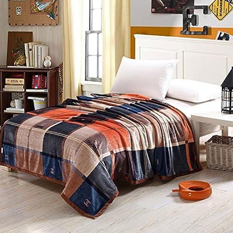 BDUK La manta de franela gruesas mantas Manta Coral y aire acondicionado en verano y mantas, toallas, colchas de invierno