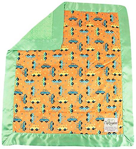 My Blankee Beep Beep Minky orange w/Minky Dot Lime Baby Decke, 76,2x 88,9cm