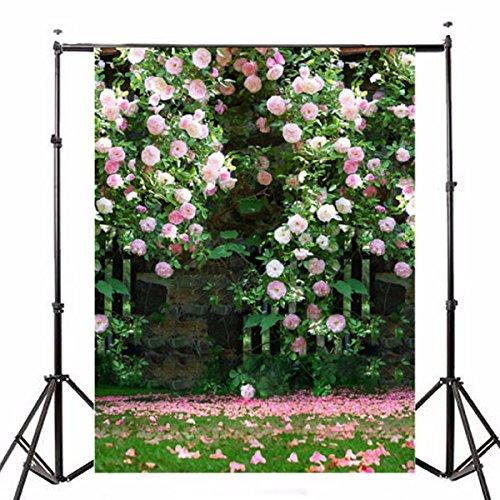 Plat Firm Fotografie-Vinylhintergrund-romantische Hochzeits-Rendezvous-Garten-Rosen-Gruppe