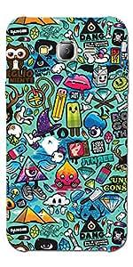 SEI HEI KI Designer Back Cover For Samsung Galaxy J5 - J500 - Multicolor