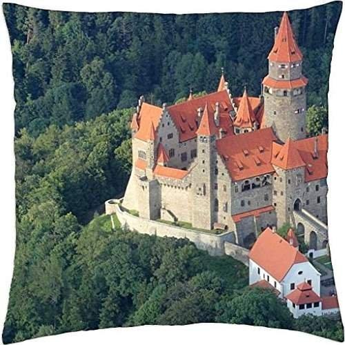 bouzov Castello Repubblica Ceca-Throw Pillow Cover Case (45,7x 45,7cm)