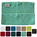 Lanudo® Luxus Waschlappen/Waschtuch 600g/m² Pure Line 30x30 cm. 100% feinste Premium Frottier Baumwolle in höchster Qualität. Waschlappen, Waschtücher. Farbe: Mint-Grün