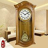 Lit King Size Salle de séjour Antique-Style Horloge Murale Carillon Mouvement Swing Mute Sweep Second Chinese style moderne minimaliste Watches,20 cm,2054B-Mk Color
