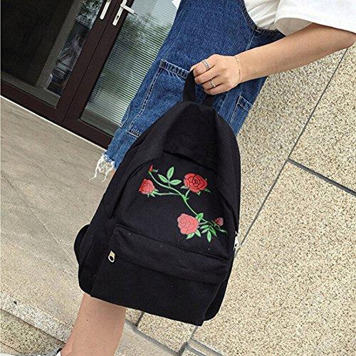 Pomineer , Damen Rucksackhandtasche mehrfarbig rose schwarz