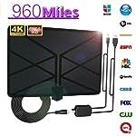 تلفزيون هوائي هوائي هوائي ثلاثي الأبعاد 4 كيه HD رقمي 1080 بكسل سكاي واير انتينا من Tjackson 960 Mile