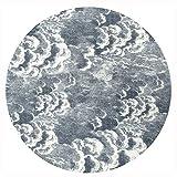 Área De Alfombras Redondas Pelusa Corta Colgando Alfombras Almohadillas Blending Patrón De Nubes Oscuras Fácil De Limpiar La Decoración del Hogar 10mm (Size : Diameter-100cm)