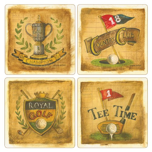 coasterstone-as9865-gregory-gorham-antique-golf-collection-absorbent-coasters-4-1-4-inch-set-of-4-by