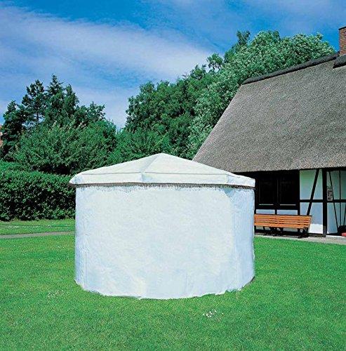 Wetterschutzumhang für Pavillon ROSENHEIM grün o. weiß (Weiß)