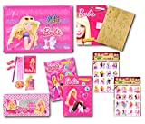 #9: STICKER BAZAAR Barbie Combo Stationary Set - Exclusive & Officially Licenced - Perfect Combo For Personal Use Or Gift Set