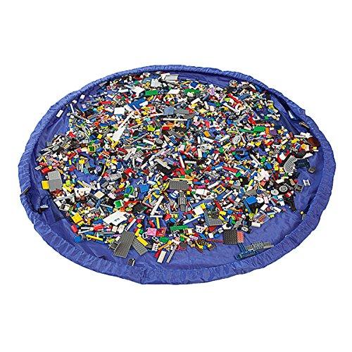 Anladia 150cm Blau Kinder Spielmatte faltbar & tragbar Spielzeug Speicher Beutel Teppich Spielzeug Organizer
