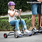 InnovaGoods ig115908 hoverbike pour Hoverboard, Unisexe Enfants, Noir, Taille Unique