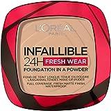 L'Oréal Paris Polvos Compactos Mate Infalible 24H, Larga Duración, Cobertura Media-Alta, Resistente al Agua, Tono: 130 True B