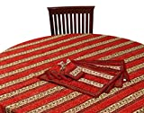 Chhipaprints Round Table Cover Red Borde...