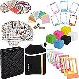 Elite Bundle - 9 Einzigartige Sticker Sets + Pouch + Fotoalbum + 100 Sticker Frames + Hanging Frames + Magnet Rahmen + Cube Ständer + Rahmenständer für Fuji Instax Mini 9, 26, 8, 7 Instant Projects