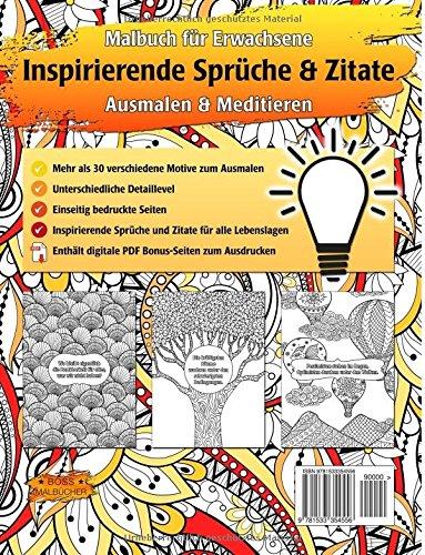 Inspirierende Sprüche Und Zitate Malbuch Für Erwachsene Zur