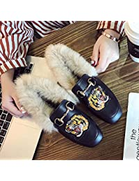 ZHAOXIANGXIANG Mode Stickerei Baotou Muller Schuhe Outdoor Komfortablen Zwanglosen Hausschuhe