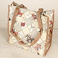 Equestrian tapiz deporte bolsa de la compra reutilizable–perfecto para hacer su diario tienda–Gran regalo Idea para amantes de la equitación–altura 30cm/ancho 30cm)