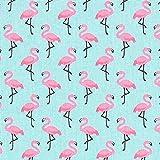 Fabulous Fabrics Cretonne Flamingo 3 - türkis - Meterware