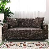 FORCHEER Sofabezug Elastischer Sofaüberwurf Blumen-Muster Sofa Cover Stretch Hussen für Sofa/Couch in Verschiedenen Größen ( 2-Sitzer, 145-185cm Muster #21 )