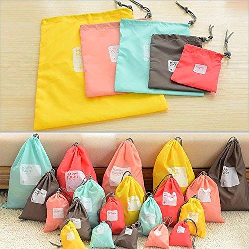 4 bolsas de viaje impermeable bolsa con cord n para for Bolsas para guardar ropa