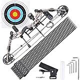 Saruwan Pro Compound Right Hand Bow Kit Arrow Archery Target Hunting Camo Set, 20-70lbs
