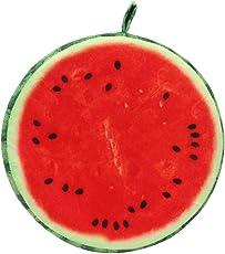 Skyfun Fruit Designed Home Chair Car Seat Back Pad Sofa Throw Squishy Soft Plush Bed Rest Cushion Pillow (Watermelon)