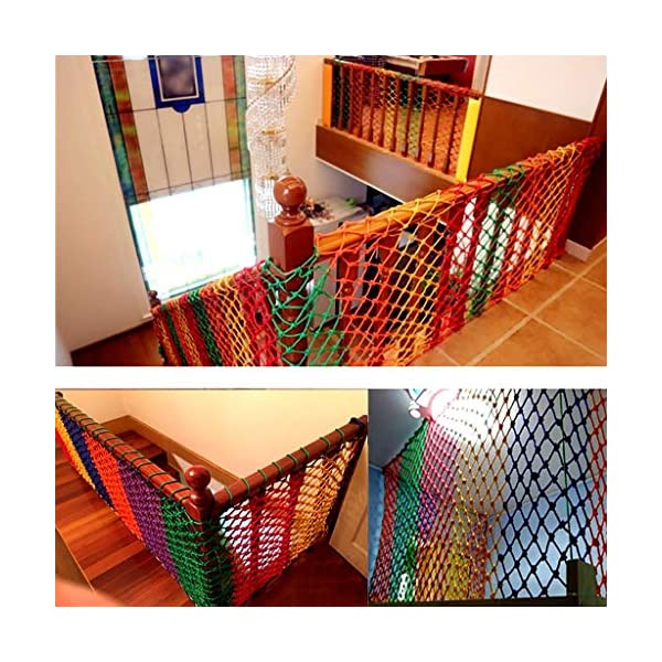 Wathet Child safety net protective net balcony stairs anti-fall net kindergarten color decorative net fence network Width 1/4M Length 1M /9M Hand braided traditional structure (Size : 4 * 5)  [Protect children's safety]: Many children fall from the building, let us understand that the safety of children can not be ignored. [Polyester knotless woven mesh]: The mesh surface has large pulling force, and the double needle has no knot woven mesh hole, so that the mesh has stronger impact resistance. [wire diameter 6MM, mesh spacing 6CM]: Escort for baby safety.(Others available in our shop) 20