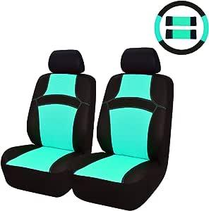 Car Pass Regenbogen Passform Universal Auto Sitzbezug 100 Atmungsaktiv Mit Airbag System Blau Auto