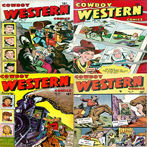Cowboy Western. Issues 17, 18, 19 and 20. Jesse James, Annie Oakley, Wild Bill Hick and Texas Rangers. Digital Sky Comic Compilations Wild West Western (English Edition)