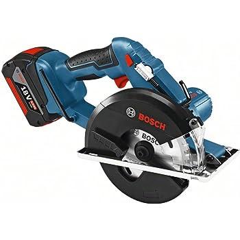 Bosch Professional 06016A4002 GKM 18 V-LI Kreiss ge, 2 x 5,0 Ah Akku, Schnellladeger t, Parallelanschlag, S\x{00E4}geblatt, L-BOXX