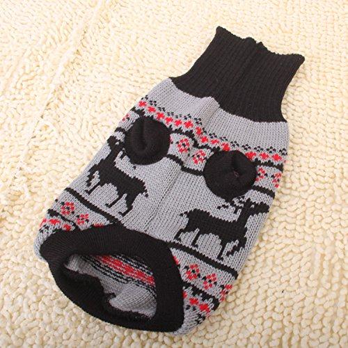Generic Black Turtleneck Pet Puppy Dog Sweater Clothes - Size M
