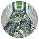 HAIPENG-alfombras pasillo Largo Corredor Entrada Antideslizante Entrada Estera Pila Baja Vestíbulo Delantero para Sala Comedor (Color : A, Tamaño : 0.9x5m)