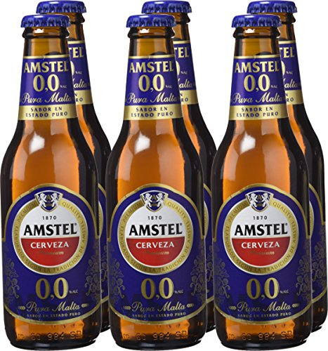 Amstel 00 Beer - Pack of 6 Bottles x 250 ml- Total: 1,5 L