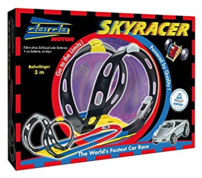 Darda 50112 - Rennbahn Skyracer, inklusive Porsche Boxster, 300 cm Streckenlänge von SIMM Spielwaren